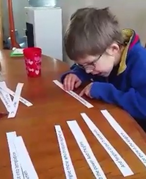 Video -- Mom has creative and simple method to teach the Lord's Prayer to her young son