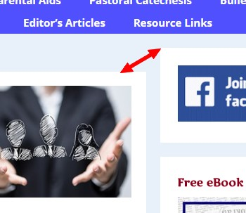 content and side bar top misalignment
